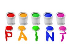 Paint cans. Royalty Free Stock Photo