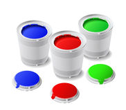Paint cans. Stock Photos