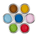 Paint cans. Colorful paint cans on white Royalty Free Stock Photos