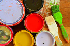 Paint cans. Royalty Free Stock Images
