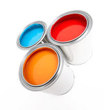Paint cans. Isolated on white Stock Image