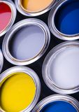 Paint and cans Royalty Free Stock Photos