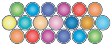 Paint Cans. Great graphic to advertise a painting business, paint sale, or painting supplies royalty free illustration