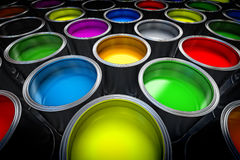 Paint cans. Close up image royalty free stock images