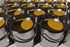 Paint cans (3D) Royalty Free Stock Images