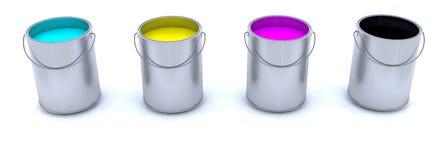 Paint cans Vector Illustration