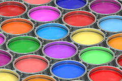 Paint cans background Royalty Free Stock Photography
