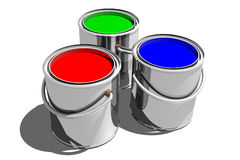Paint Cans (3D) Stock Photos