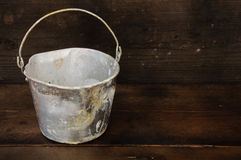 Paint cans or paint bucket on wooden background Stock Photography
