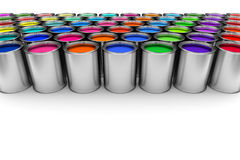 Paint cans. On white background Royalty Free Stock Photos