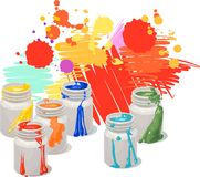 Paint cans Vector Illustration