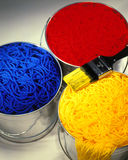 Paint Cans & Yarn Royalty Free Stock Photos