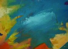PAINT ON THE CANVAS. WITH BRUSH AND MI SIC. royalty free stock photos