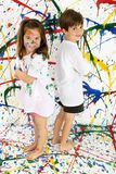 Paint Children Royalty Free Stock Image