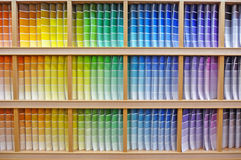Paint chip color spectrum royalty free stock image