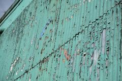 Paint Chipping on Wall stock photo
