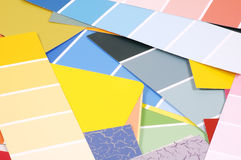 Paint Chips Stock Image