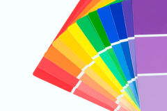 Paint chips beta. A spread of colorful paint chips royalty free stock image