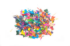 Paint chips of colored pencils Royalty Free Stock Photos
