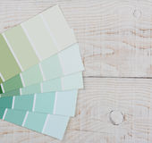 Paint Chips Wood Table Square Stock Images