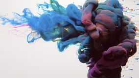Paint cloud intro blue pink fume puff motion