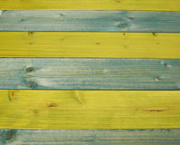 Paint coated wooden boards Stock Photos