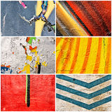 Paint collage Stock Photography