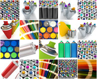 Paint collection Stock Photos