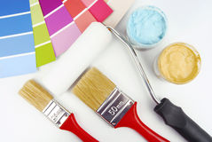Paint color choice for interior Royalty Free Stock Images