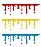 Paint color drops Stock Photo