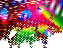 Paint Color Indicates Splashed Splatter And Splashing Stock Photo