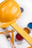 Paint, color,  Job, paintbrush, artist, renovation Stock Photos