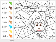 Paint color by numbers - Worksheet for education Royalty Free Stock Image