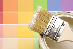 Paint and Color Strips Royalty Free Stock Images