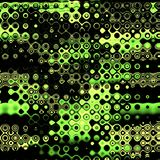 Paint colorful dotted spots. Grunge element for modern design. Emotional art. Abstract background in black and green. Stock Image