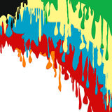 Paint colorful dripping background Stock Photos