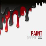 Paint colorful dripping background, vector Stock Images
