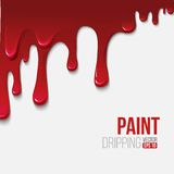 Paint colorful dripping background, vector Royalty Free Stock Photo