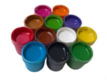 Paint Colorful Isolated Stock Image