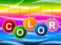 Paint Colorful Means Colours Multicolored And Multicoloured. Colorful Paint Showing Colour Colors And Multicoloured royalty free illustration