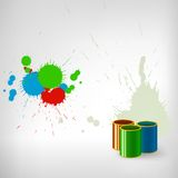 Paint colorful splash with can Stock Images