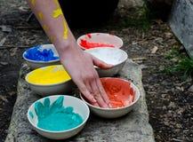 Paint colors Stock Image
