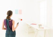 Paint colors simulation Stock Photo