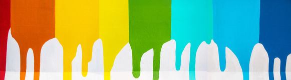 Paint colors on the wall Royalty Free Stock Image