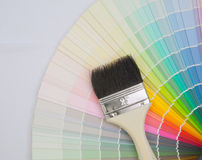 Paint colour palette. In close-up royalty free stock photos