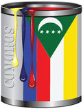 Paint for Comoros flag Royalty Free Stock Photos