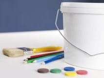 Paint container Stock Photography