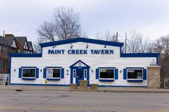 Paint Creek Tavern, Downtown Rochester Michigan stock images