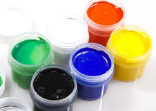 Paint of different colors Stock Images