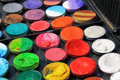 Paint Diversity. Colorful paint set for art work. concept for diversity Stock Photo